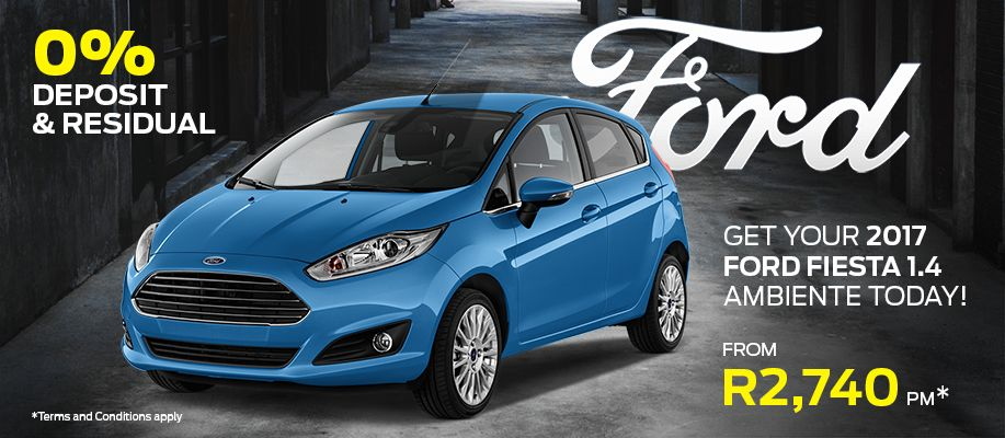 Get your 2017 Ford Fiesta 1.4 Ambiente today