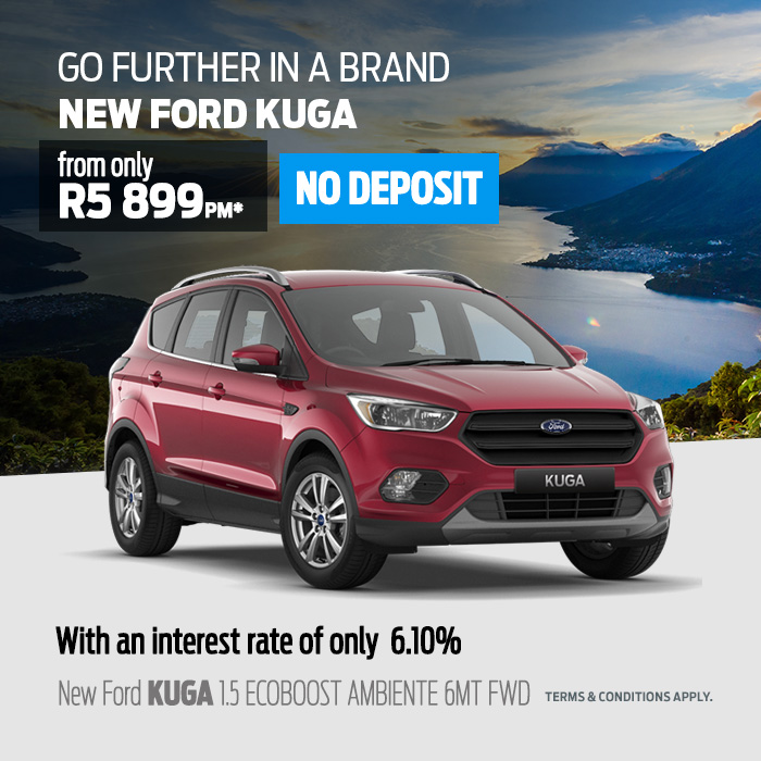 Go Further In A Brand New Ford Kuga From Only R5 899pm From Only R5 899 Motus Ford